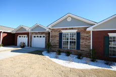 2 bedroom, 2 bath single-story townhome exterior
